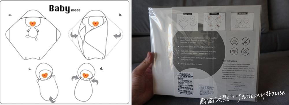 嬰兒浴巾推薦 - Nizio小蘑菇天然棉紗浴巾
