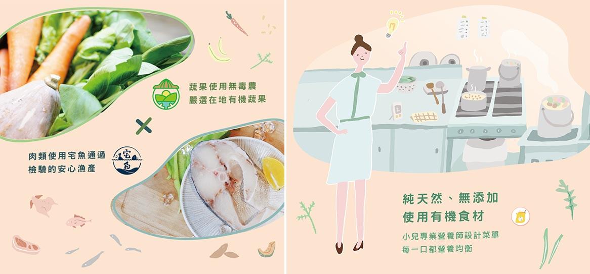 無毒農粥寶寶由通過HACCP跟ISO 20002認證的中央廚房每日新鮮製作
