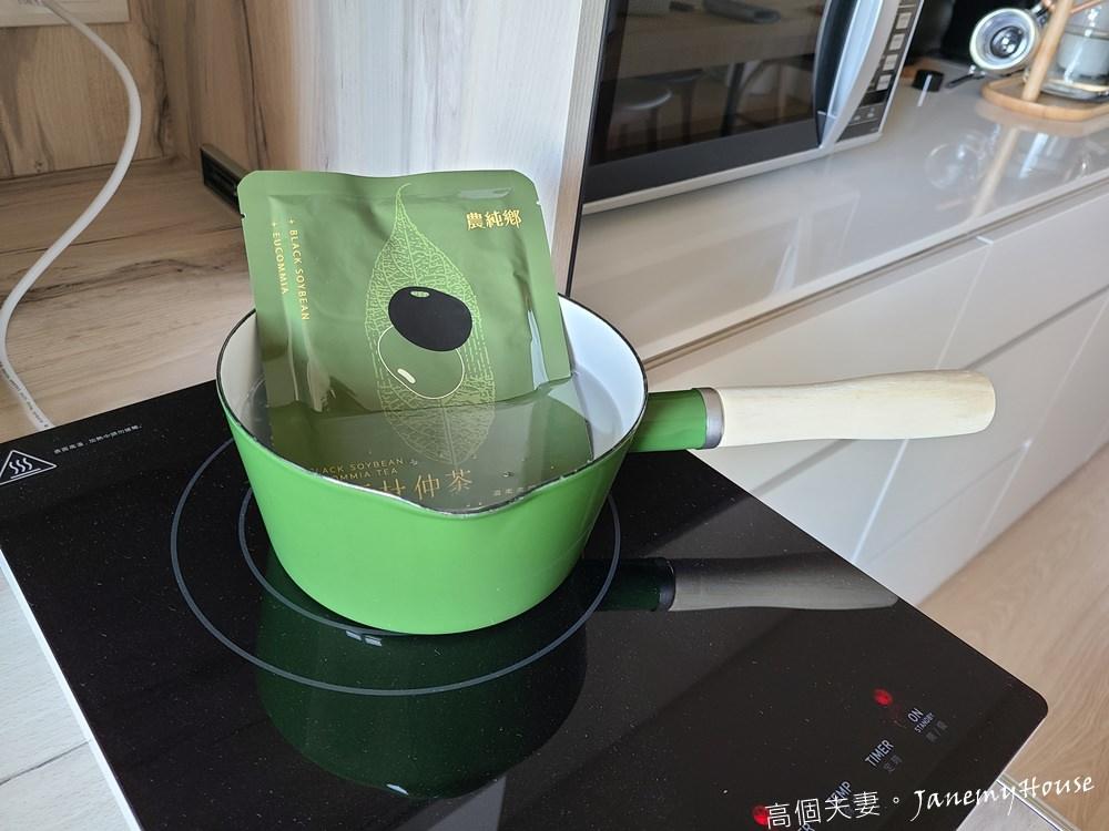 農純鄉黑豆杜仲茶加熱